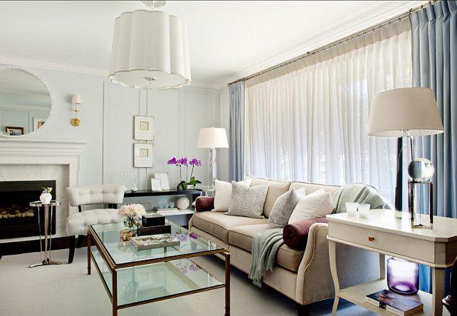 Sophisticated Living Room. #LivingRoom Design Custom upholstery ...