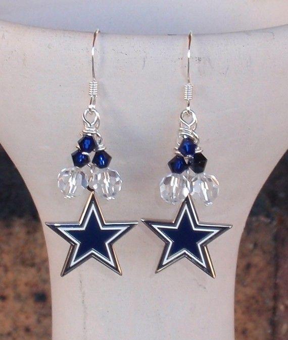 Dallas Cowboys Crystal Logo Earrings