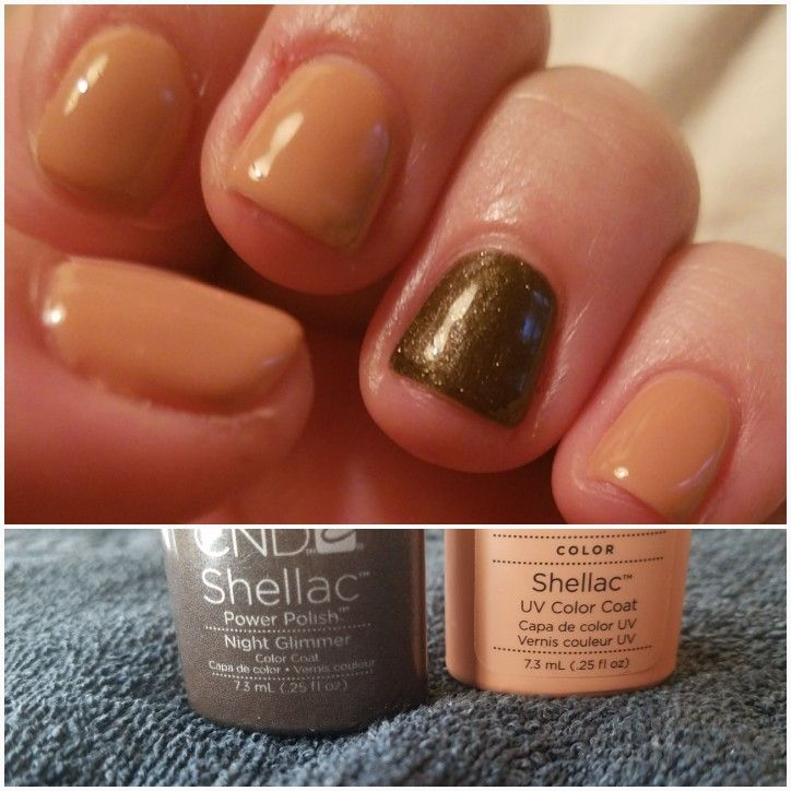 Muted fall manicure. #CNDShellac #CNDNightGlimmer #CNDCocoa | Nifty ...