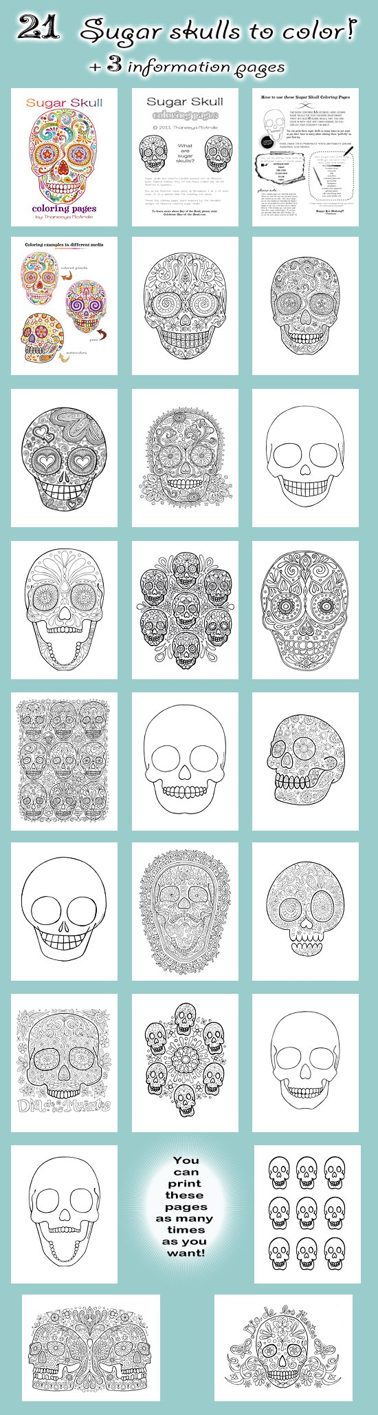 Great Tattoo Skull Coloring Pages Skull Sugar Skull
