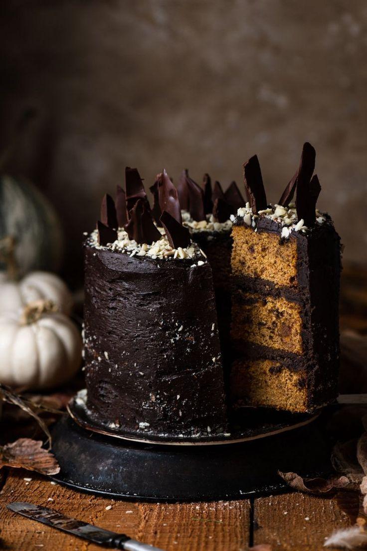 Chocolate bourbon pumpkin cake cake recipes desserts cake