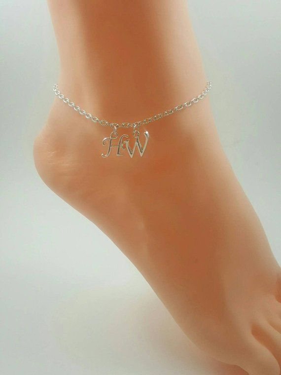 Letter F Anklet Silver In Colour Fine Quality Anklets