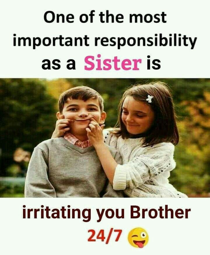 đaman Cute Brother Sister Sister Quotes Funny Brother Quotes Funny