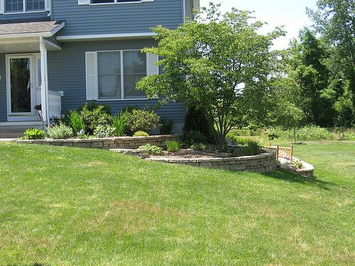 Image result for side of house retaining wall | Garden