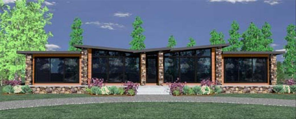 This Modern plan has all the patterned livability you could ask for inan exciting Architectural Style. Modest in size but HUGE in style thishome has outstanding traffic flow and is just plain old comfortable andinspiring to live in. Nothing is here that you don't need andeverything you need is here. A detached garage is available as well.Really study this plan and you might just find yourself out looking fora place to put one up. This will be a prefabricated made to order homeas well as being av