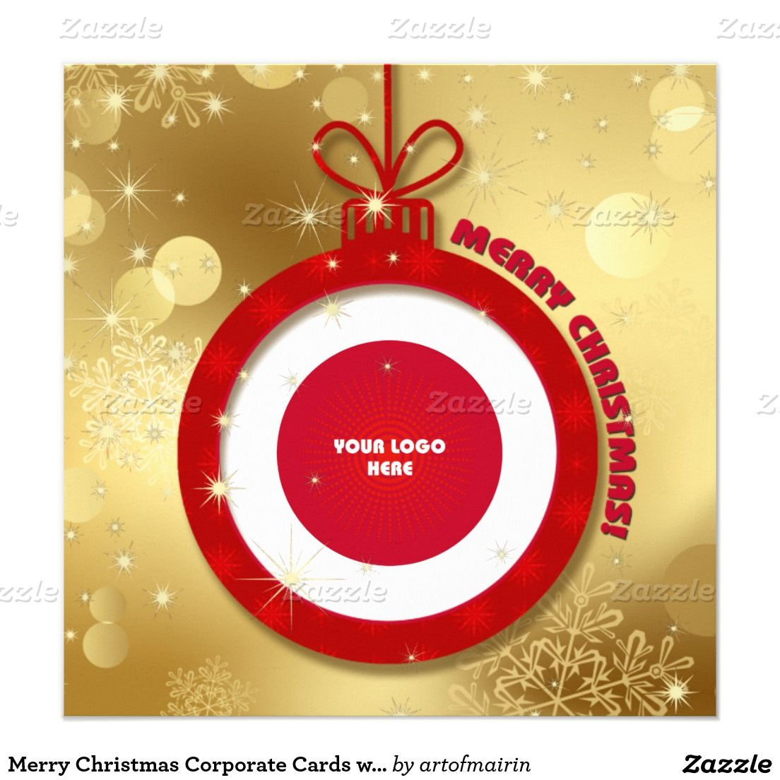 Merry Christmas Corporate Cards with your Logo | CORPORATE ...