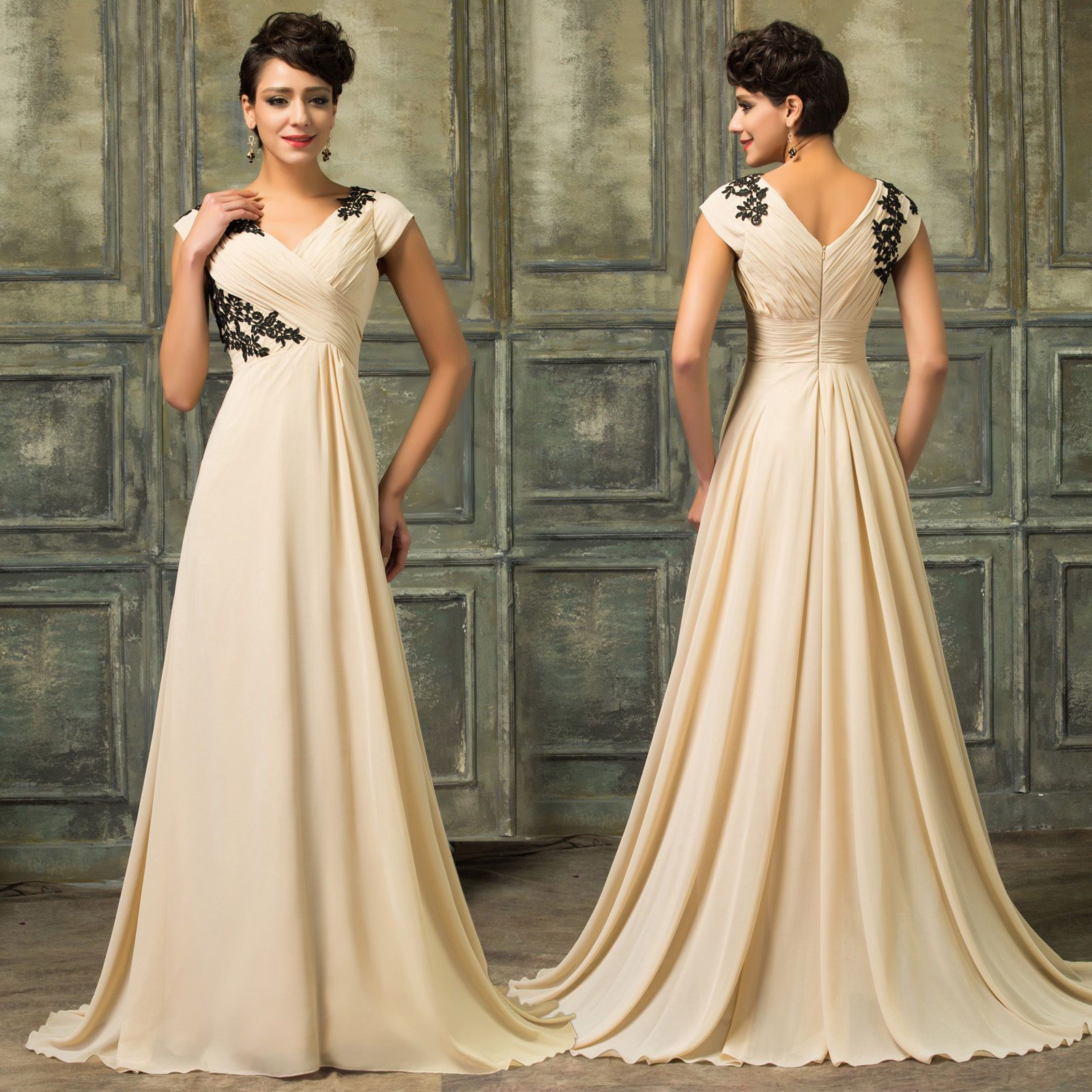 Plus size sexy women evening ball gown party cocktail wedding long