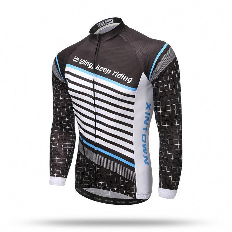 0c1bac167 XINTOWN New Men Women Long Sleeve Cycling Jersey Black Spring Long Sleeves  MTB Road Wear Cycling