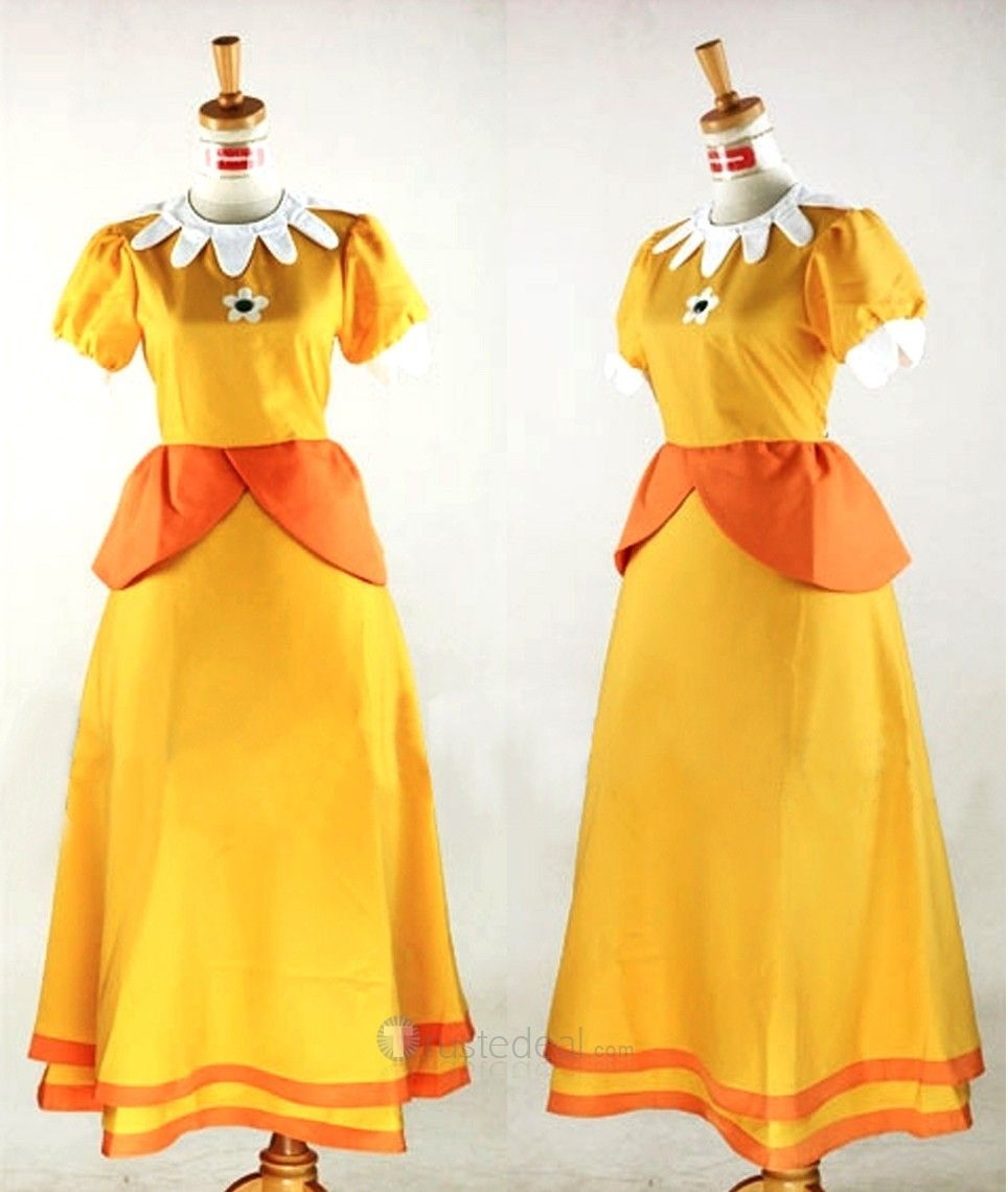 Princess Daisy Costume From Super Mario Mario Costume Princess Daisy Costume Peach Costume