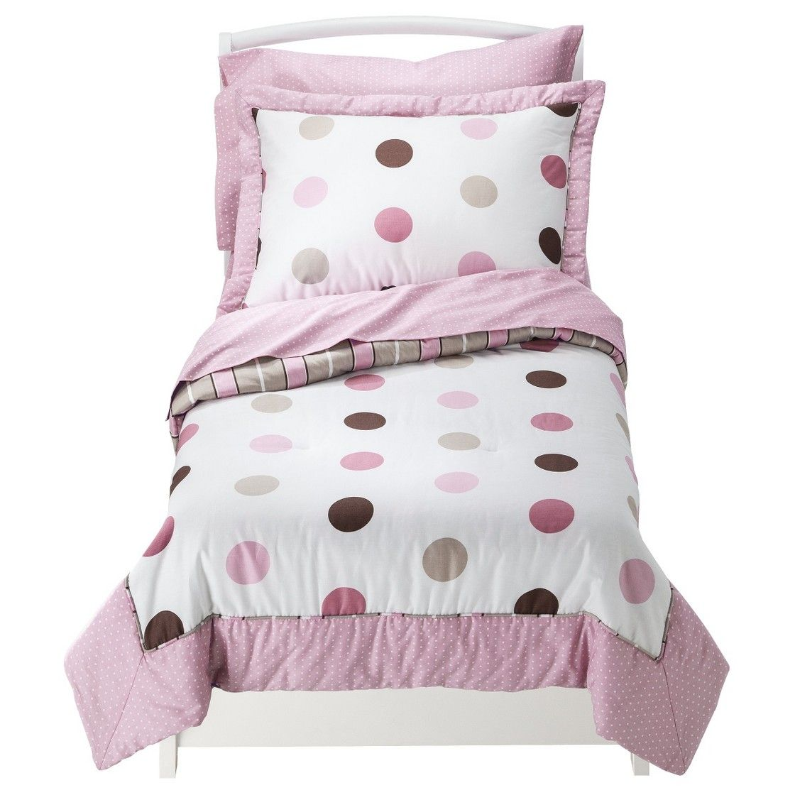 Sweet Jojo Designs Pink Mod Dots 5 Pc Toddler Bedding Set