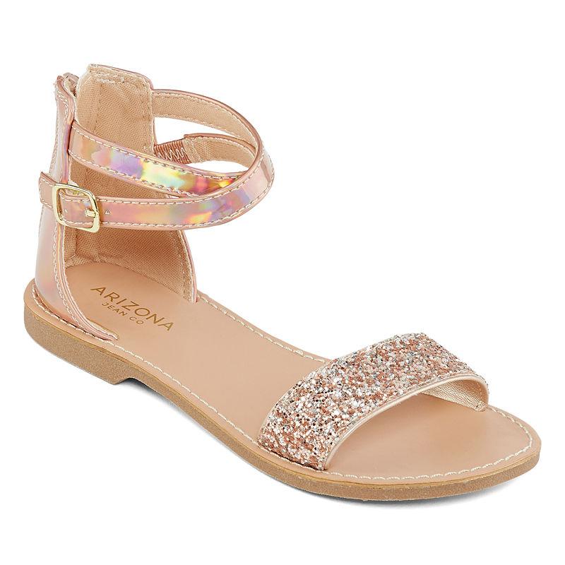 eca87ac0605e Arizona Little Kid Big Kid Girls Kylie Adjustable Strap Flat Sandals ...
