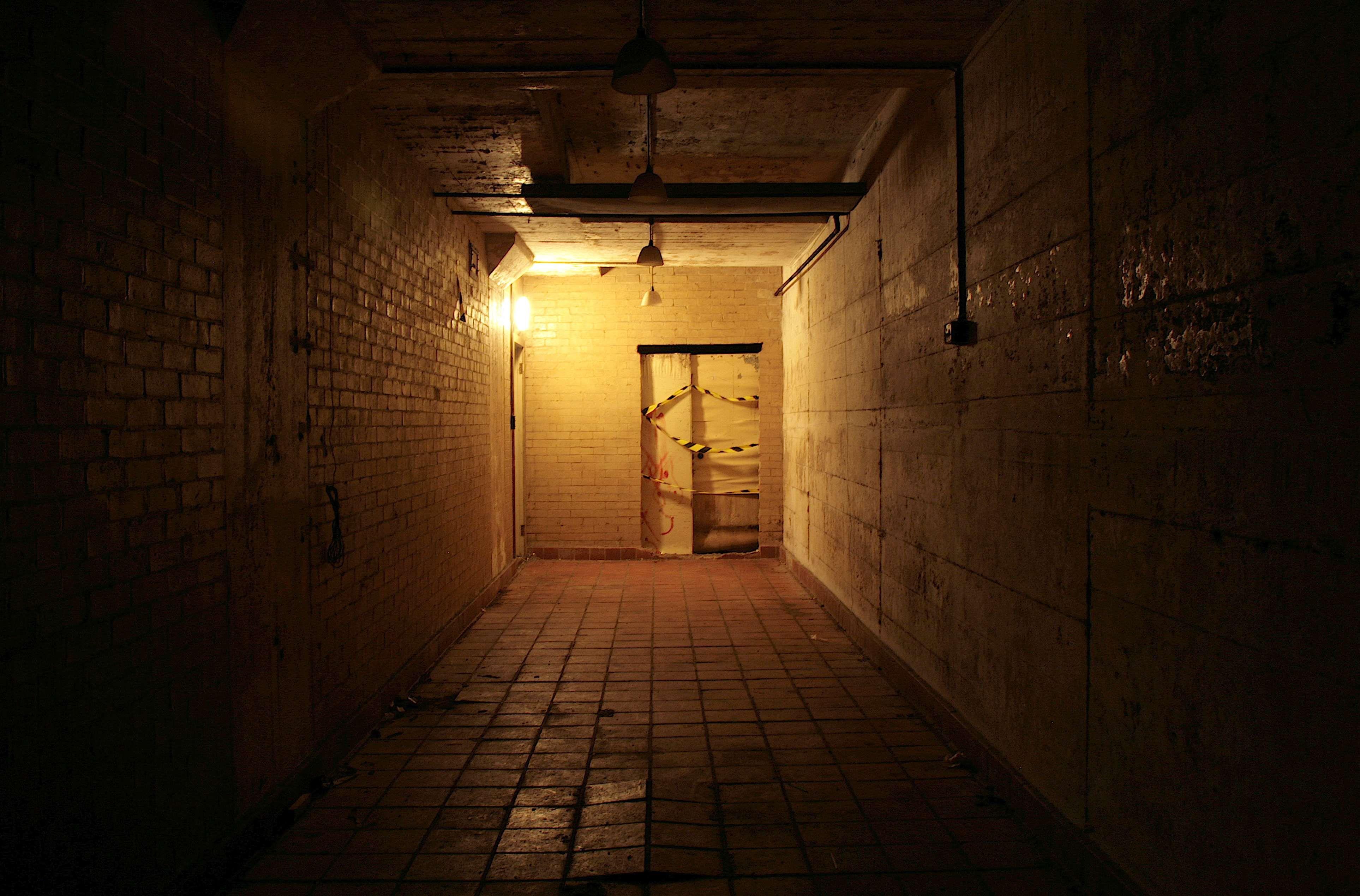 Dark hallway wallpaper  Pin by Uni Ross on d Modeling Ideas  Underground  Pinterest