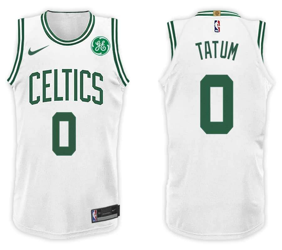 Men 0 Jayson Tatum Jersey White Boston Celtics Authentic Jersey Player 0b22d4e04