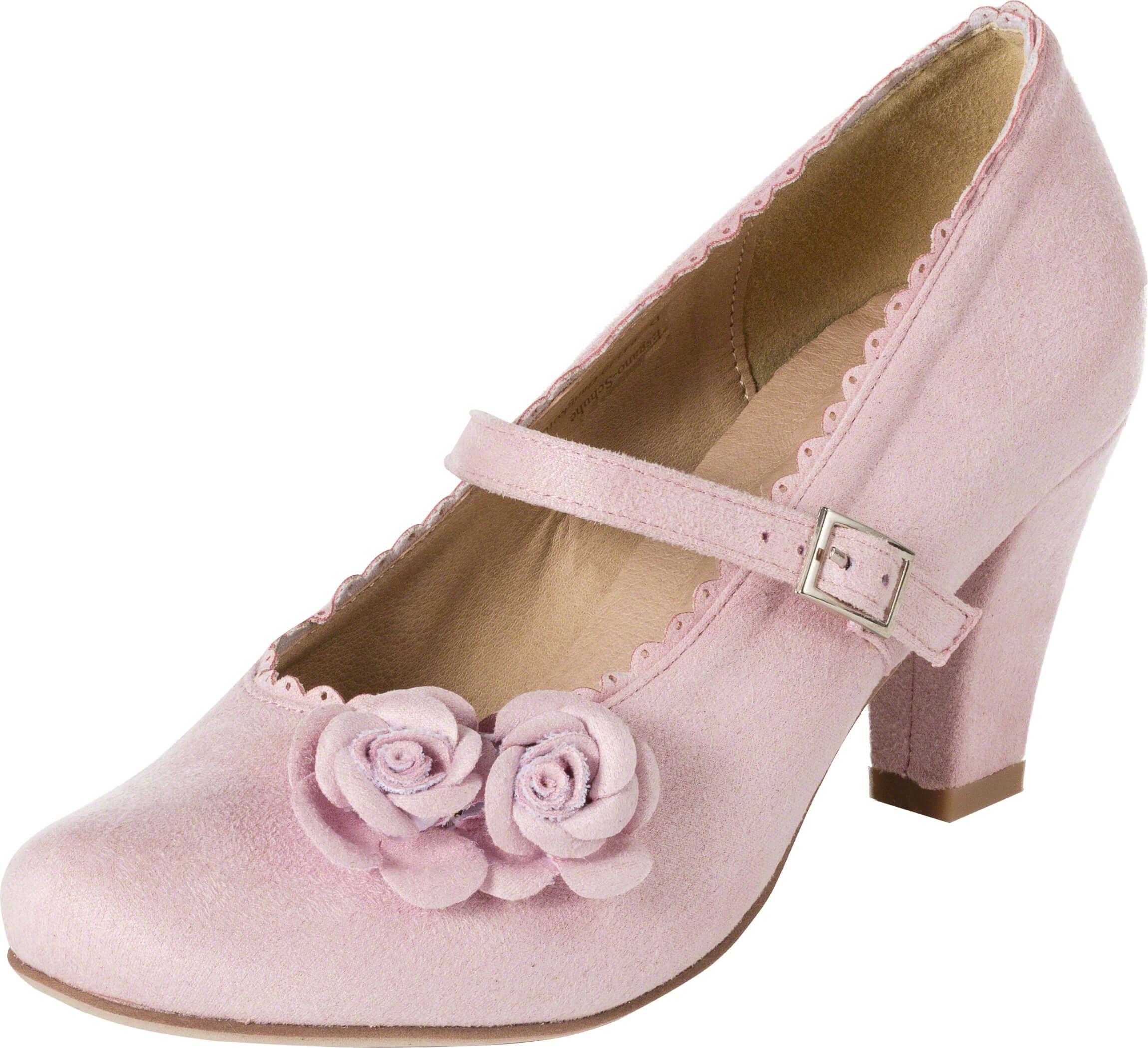 95827aef2e0a7 Mary-Jane (rosa) | Pump shoes | Dirndl schuhe, Trachtenschuhe damen ...