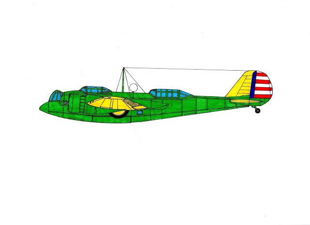 DIBUJOS aeronave: Bombardero