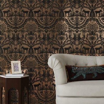 Eulalia Peel & Stick Removable Wallpaper Metallic Gold