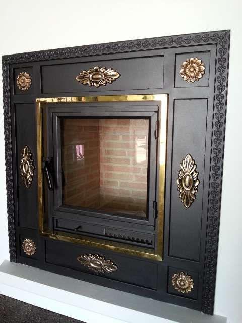 Puertas para chimeneas de obra h r foto 3 puertas chimenea pinterest - Puertas de vidrio para chimeneas ...
