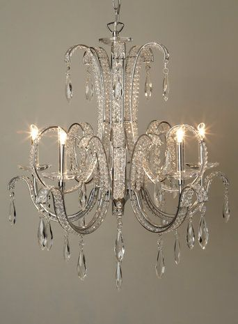 Clear Ambrin 5 Light Chandelier