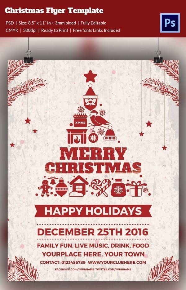 Jingle Jam Christmas Party Flyer Templates Free Christmas Flyer