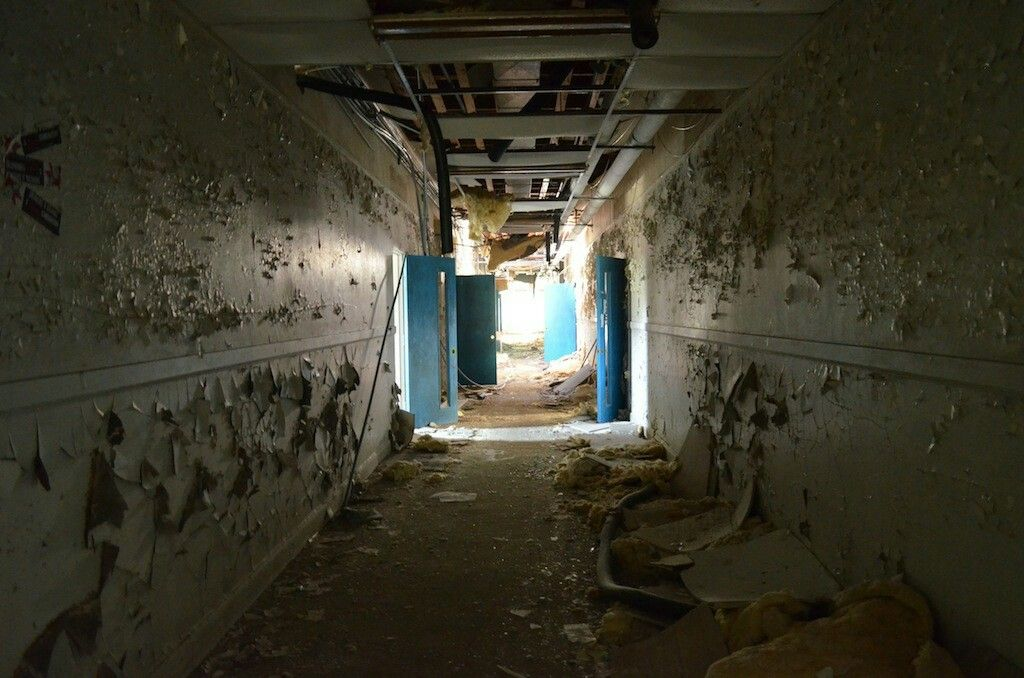 Delightful An Abandoned School Hallway Creepy Cornwall Pinterest