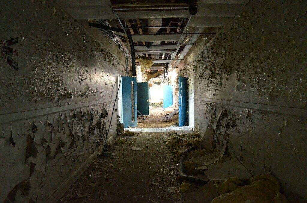 Delightful An Abandoned School Hallway Creepy Cornwall Pinterest