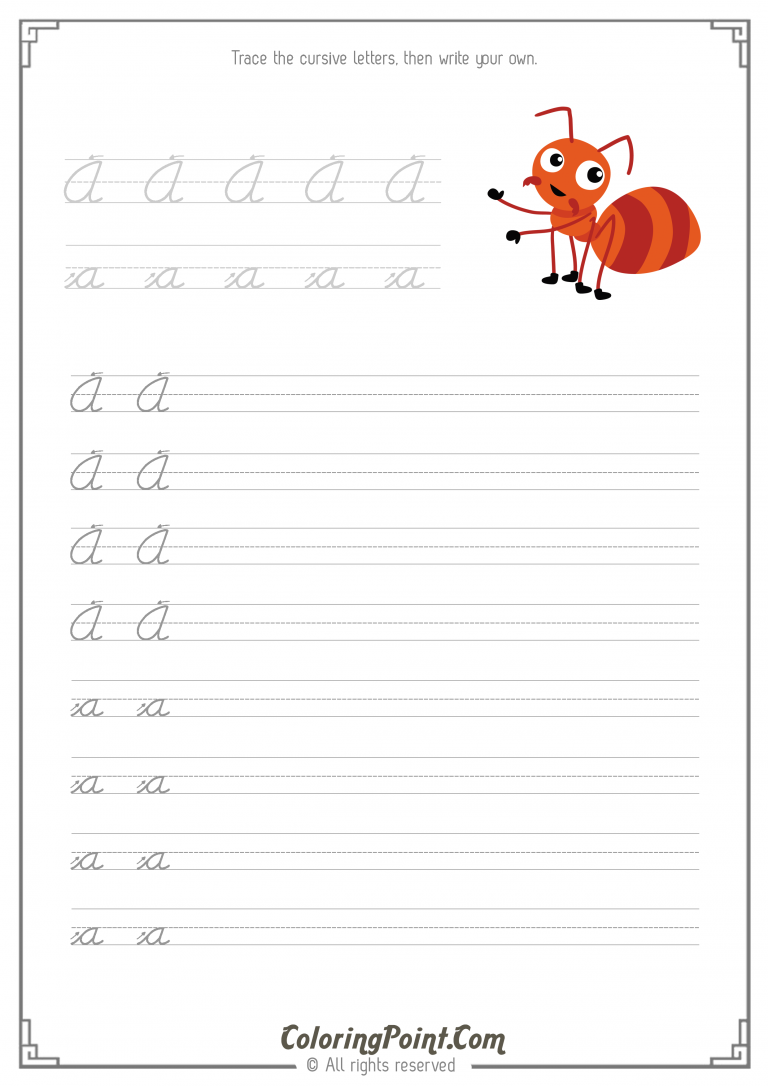 Worksheets Cursive Writing Worksheets A-z practice cursive letters a z with our handwriting worksheets writing the letter a
