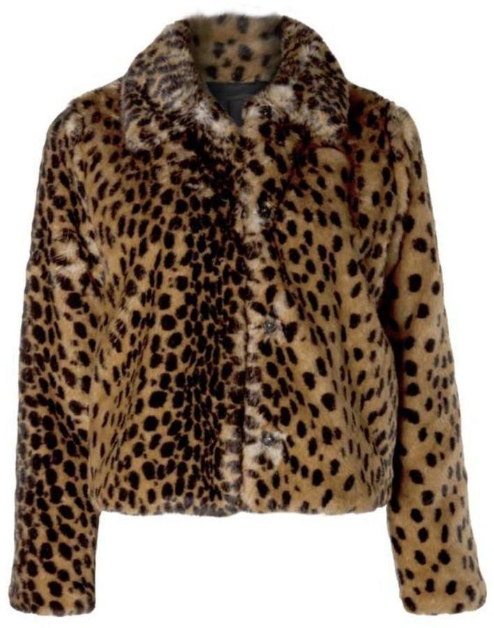 c525c8a520 Dex Fuzzy Leopard Jacket   Products   Leopard jacket, Jackets, Faux ...