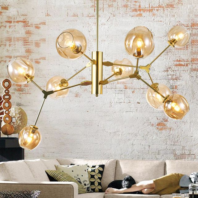 New Creative Modern Pendant Light For Living Dining Room E27 Black Gold Hanging Suspension Chandelier Lighting Fixtures Gold Pendant Lighting Modern Chandelier