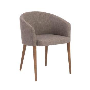 Fantastic Savannah Arm Chair With Walnut Legs Set Of 2 Tan Beige Ncnpc Chair Design For Home Ncnpcorg