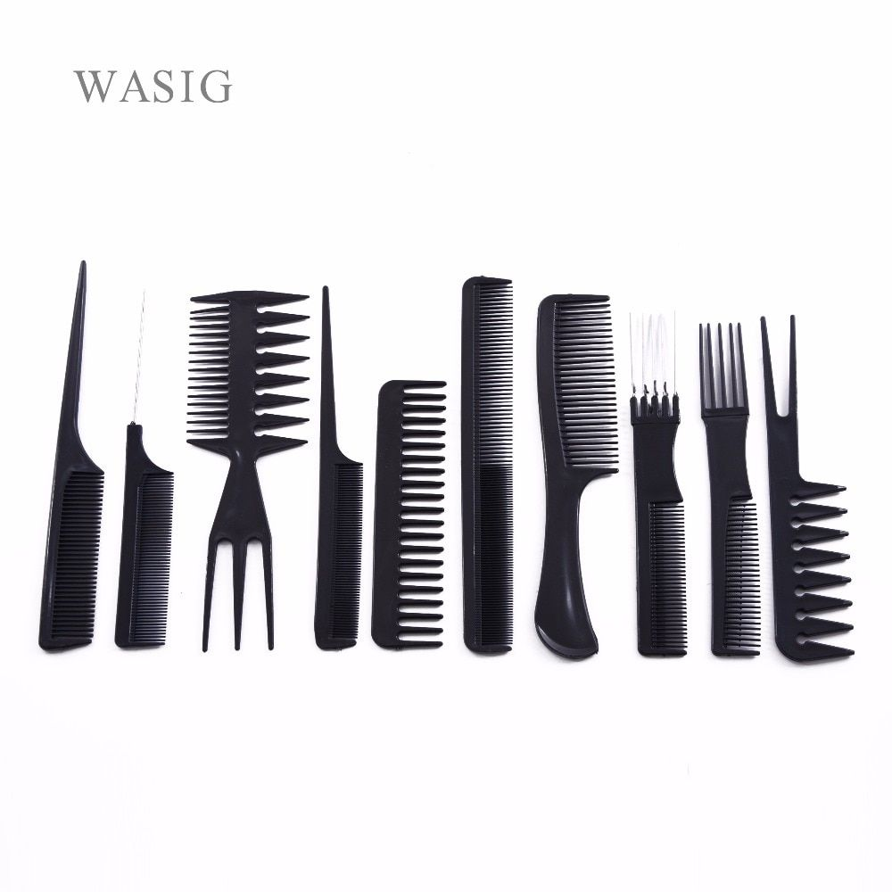 10 Pcs Set Professional Hair Brush Comb Salon Barber Anti Static Hair Combs Hairbrush Hairdressing Combs Hair Care Styling Tools In 2020 Professional Hairstyles Static Hair Styling Tools