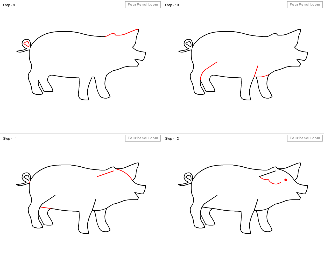 how to draw pig for kids slide 3 click to enlarge