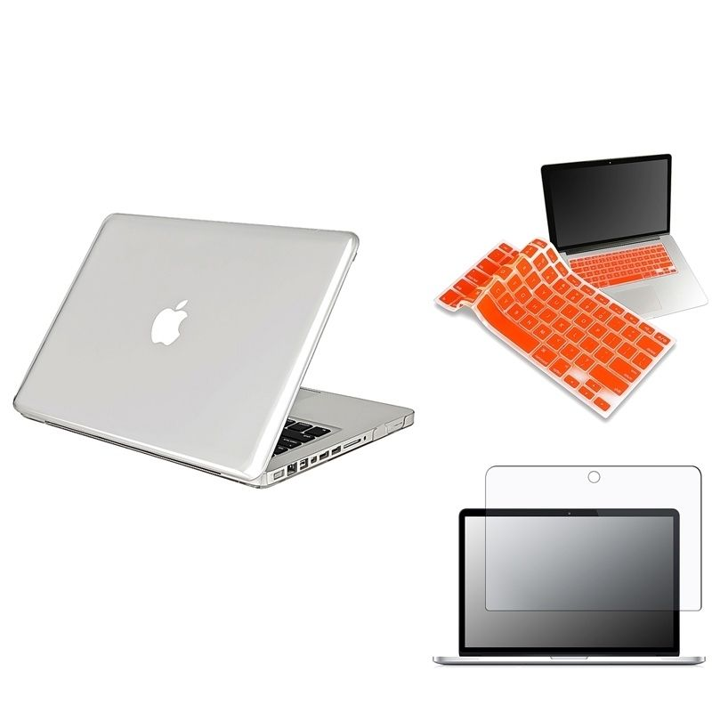 Insten Keyboard Shield/ LCD Protector/ Laptop Case Cover for Apple MacBook Pro #438109