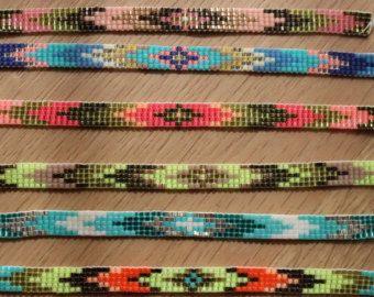 Items op Etsy die op Einde kralen miyuki geweven armband lijken