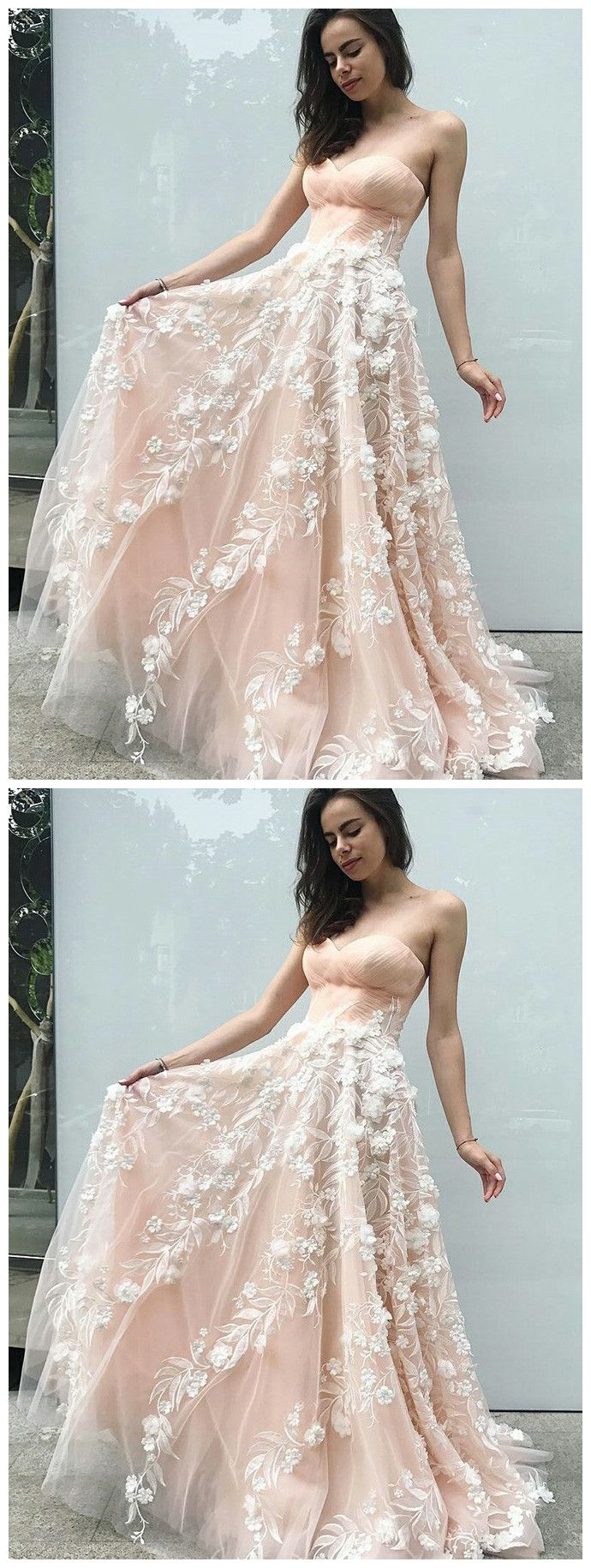 Aline sweetheart long prom dress with lace floor length prom