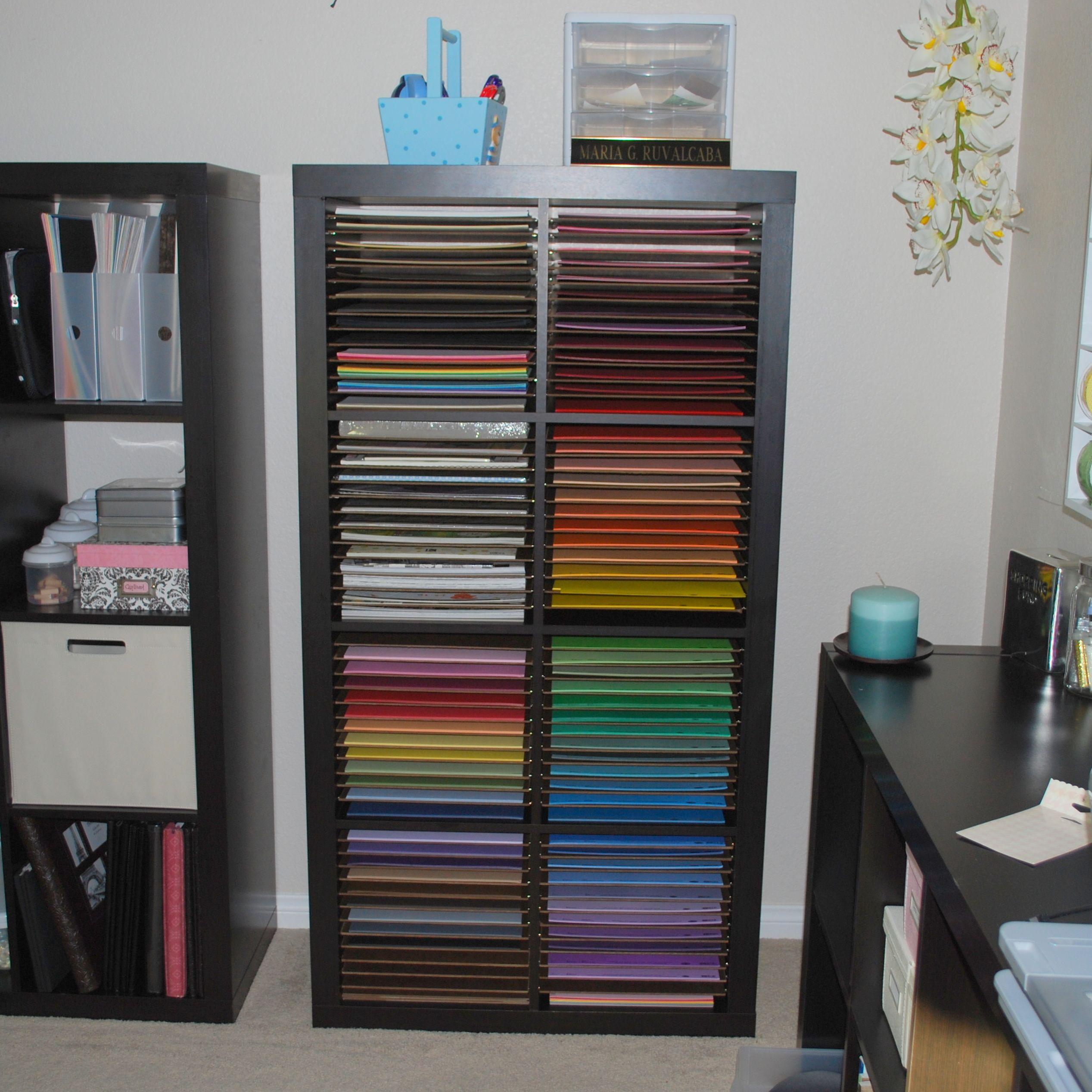 Paper Bookcase Ikea Expedition With Homemade Shelves Scrapbook Com Scrapbook Storage
