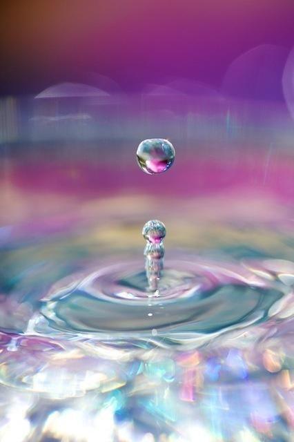 Iridescent Water Drops | H2O | Rain, Water drops, Drip drop H2o Water Drop