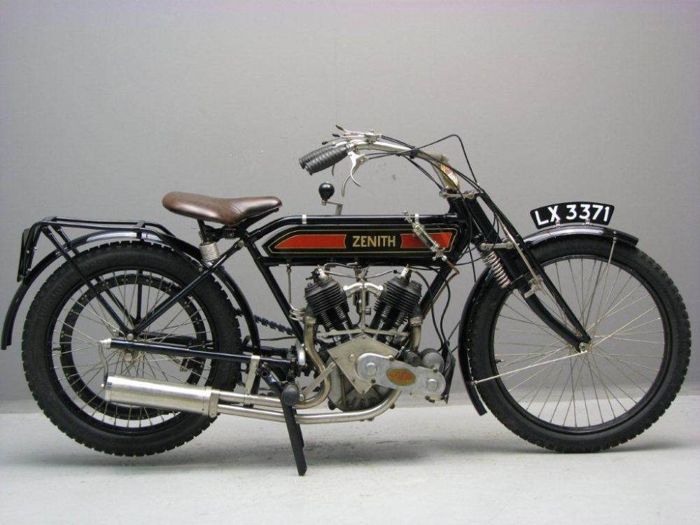 1912 Zenith Gradua 770 Cc 2 Cyl Sv Classic Bikes Vintage Bikes Classic Motorcycles