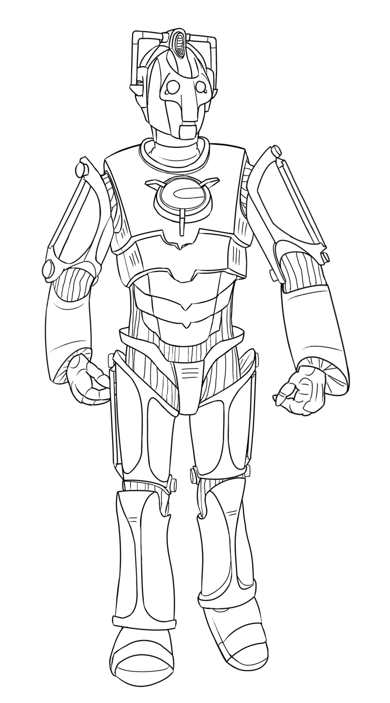 Colour Your Own Cyberman By Jinkies36 On Deviantart Doctor Who Doctor Who Art Coloring Books