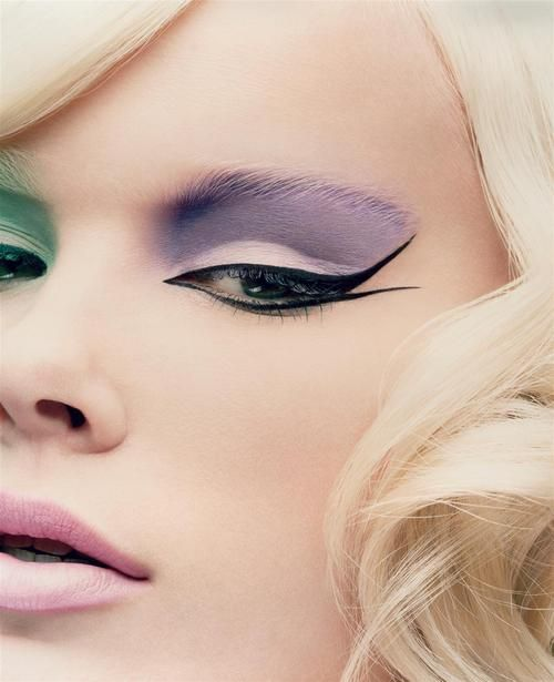 Mismatched Pastel Purple And Green Eyeshadow Love -8200