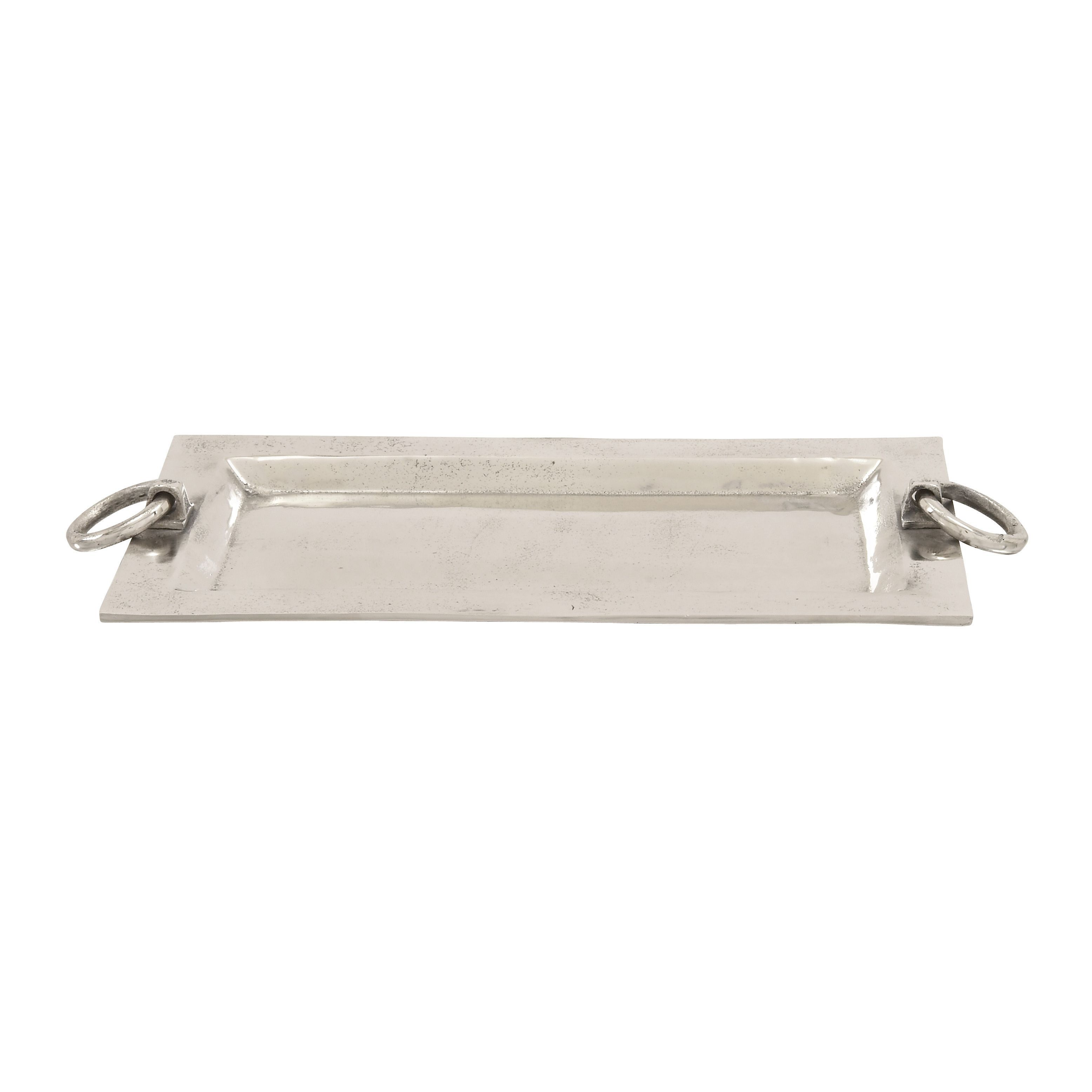 Benzara Aluminum Rectangle Tray 27-inch x 2-inch