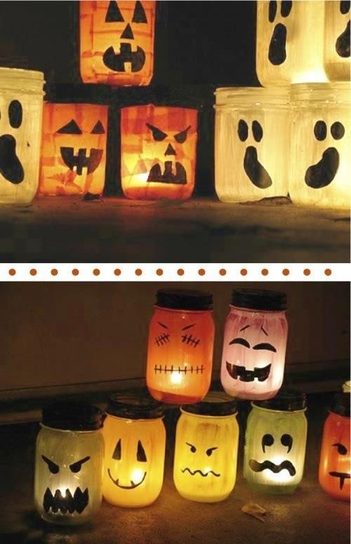 Halloween jam jars Jars Pinterest Jar - halloween jar ideas