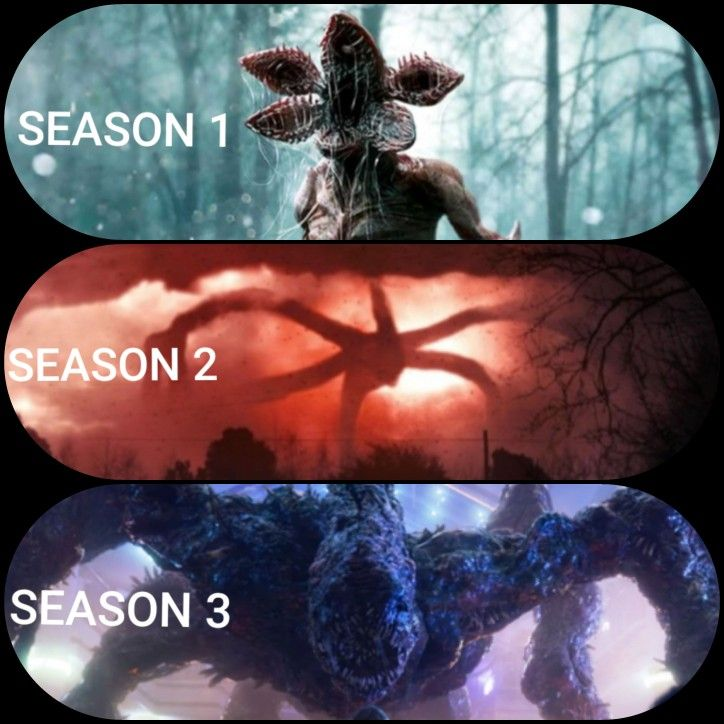 Stranger Things monster's throughout the seasons