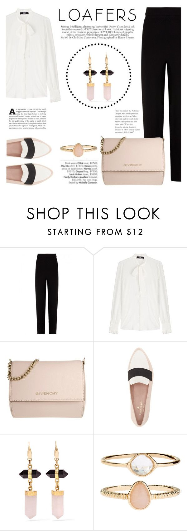 """""""Fall Footwear Trend: Loafers"""" by katsin90 ❤ liked on Polyvore featuring Balenciaga, Karl Lagerfeld, Givenchy, Kate Spade, Avenue, Isabel Marant and Accessorize"""