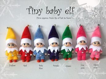 Tiny Baby Elf Miniature Elf Doll Christmas Decoration Gift Elf