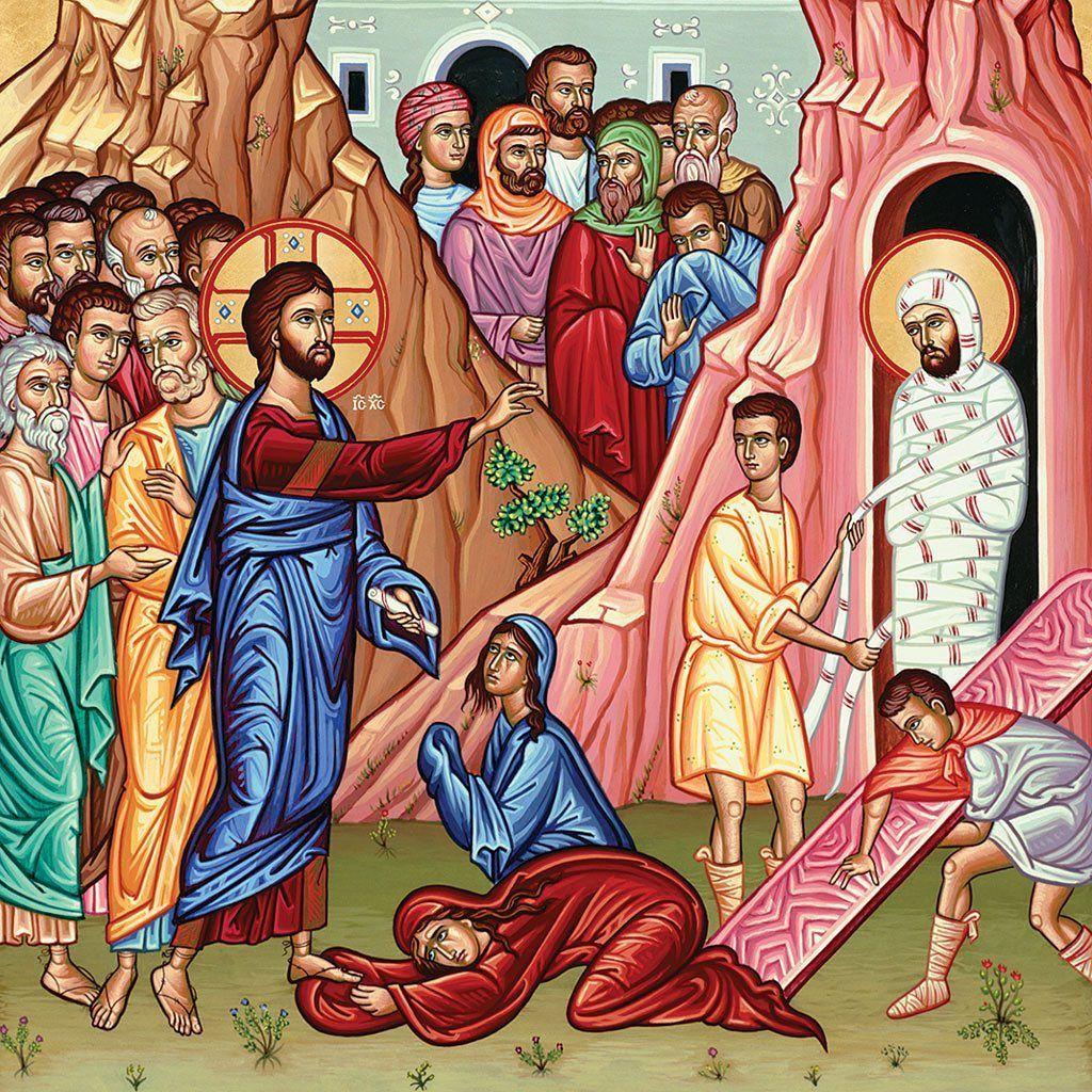 Today Is Lazarus Saturday In The Eastern Churches That Follow The Julian Calendar The Calendar That Was In Monastery Icons Orthodox Icons Greek Orthodox Church