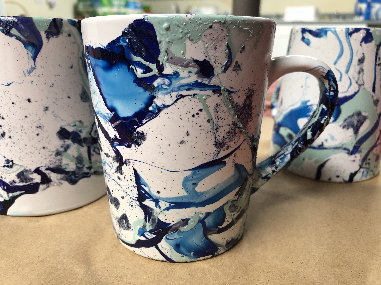 Dip Painted Coffee Mugs Dishwasher Safe Etsy In 2021 Painted Coffee Mugs Mugs Coffee Mugs