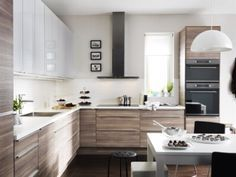 Cuisine Ikea Metod Brokhult Extension Décoration Maison