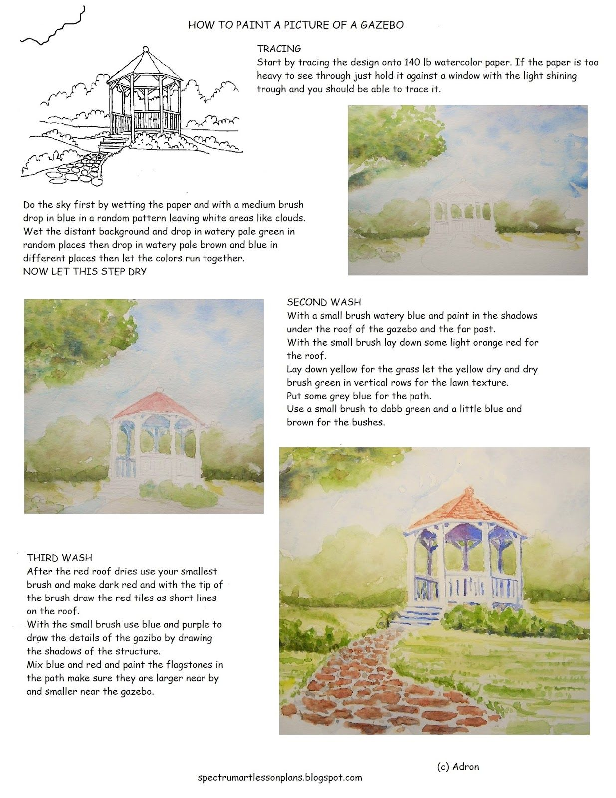 How To Paint A Picture Of A Gazebo