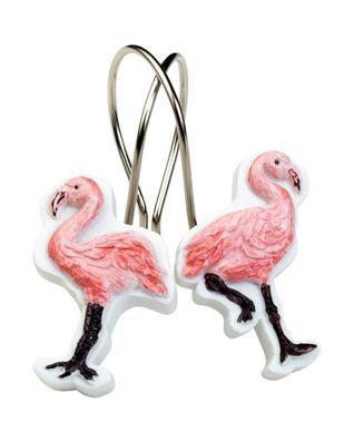 India Ink Flamingo Shower Curtain Hooks Flamingo Shower Curtain