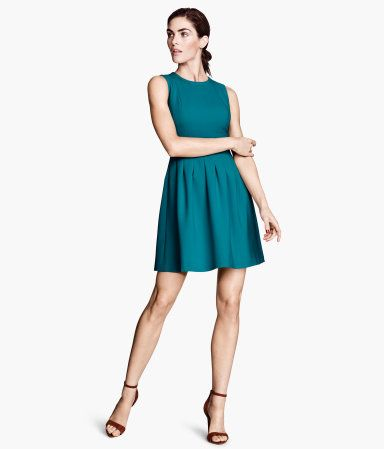 H M Sleeveless Dress 20 Waistline Dress Turquoise Clothes Dresses